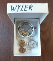 5 Vintage Wyler Ladies Mechanical Watch Movements 4 Parts Lot# A136