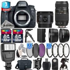 Canon EOS 6D Mark II Camera + 50mm 1.8 STM + 70-300mm + 3yr Warranty- 64GB Kit