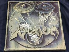 VENOM Here Lies Venom w/Autograph Combat – MX 8062 1985 NWOBHM FREE SHIPPING!