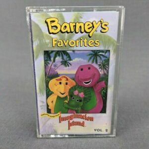 Barney's Favorites Volume 2 Songs From Imagination Island Cassette Tape 1994