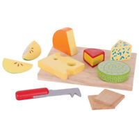 Bigjigs Toys Wooden Play Food Cheese Board Set Pretend Role Play Set