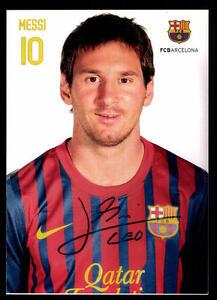 Leonil Messi Autogrammkarte FC Barcelona