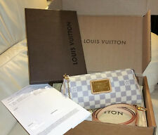 03f8aaa7447d Louis Vuitton Eva Damier Azur Clutch Cross Body Bag Authentic Made in France