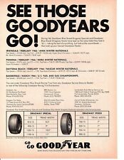 1966 GOODYEAR DRAGWAY SPECIAL / DRAGWAY STOCK TIRES ~  ORIGINAL 2-PAGE PRINT AD