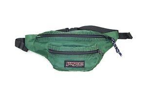 Vintage 80's Jansport Fanny Pack 2 Pocket Waist Bag. USA - Green - Sz. Adj.