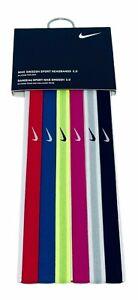 NEW NIKE Unisex Swoosh Sport Multi-Color Headbands 2.0-6 Pack