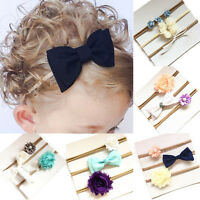 Bow Baby Girls Toddler Flower 3X Lovely Infant Headband Hair Band Accessories U8