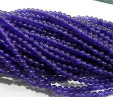 "4mm Amethyst Gemstone Round Loose Beads 15"" LL001"