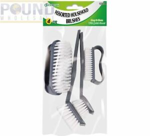 Pack Of 4 Cleaning Brushes Household bathroom kitchen cleaning brush set sealed