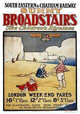 Sunny Broadstairs : Old Advertising Poster reproduction