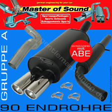 MASTER OF SOUND GRUPPE A AUSPUFFANLAGE AUSPUFF OPEL ASTRA F Cabrio  Art. 2175