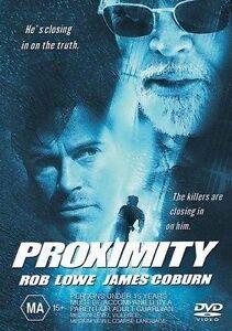 Proximity DVD Rob Lowe James Coburn Movie REGION 4 AUSTRALIA