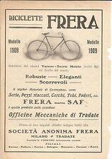 [LKO] PUBBLICITA' ADVERTISING INIZIO '900 BICICLETTE FRERA MODELLO 1909