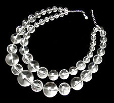 IRIS G Huge Chunky Clear Faceted Faux Crystal Multistrand Runway Necklace-OOAK