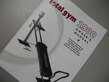 Total Gym 1900 Owner's Manual