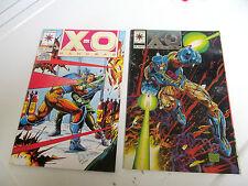LOT 2 * VALIANT COMICS * X-O MANOWAR *1993 # 0 & # 20  F/F