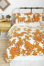 NEW Urban Outfitters Magical Thinking Paisley Blossom Duvet Cover Twin XL Yellow
