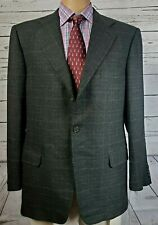 Ermenegildo Zegna Wool Cashmere Gray Glen Plaid 3/2 Roll Sport Coat Jacket 42R