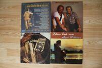 4 LP Record Lot Country Johnny Cash Waylon Jennings Merle Haggard George Jones