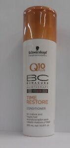 SCHWARZKOPF Q10 PLUS BONACURE HAIR THERAPY TIME RESTORE Conditioner ~ 6.8 fl oz