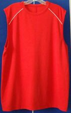 Euc Sleeveless Athletic Shirt by Ivy Crew Sport Red 100% Poly Sz L