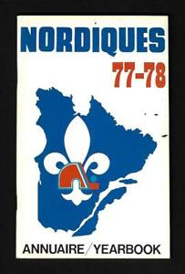 1977-78 WHA Quebec Nordiques Media Guide Yearbook - Near Mint