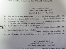 Wurlitzer 165 Recut Band Organ Roll #6676 6 Tune