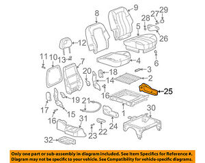 Buick GM OEM 02-03 Rendezvous Rear Seat-Side Cover Right 88899313