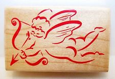 New 1993 HERO ARTS Wood Rubber Stamp D 822 CUPID'S BOW Nice for VALENTINES DAY