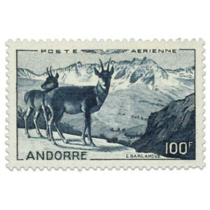 ANDORRE FRANÇAIS PA N°1, PAYSAGE, TIMBRE NEUF-LUXE-1950