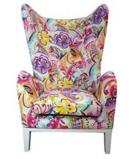 Wood & Fabric Polyester Armchair Chairs