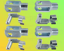 4 x Gabelkopf 4x8 M4 verzinkt + Sicherungsbolzen / ES-Bolzen - Gabelgelenk