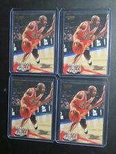 (4) 1996-97 Fleer Michael Jordan #13 Lot Bulls B90