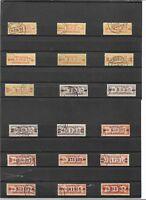 DDR 1958, Michenrn. Dienstmarken B aus 16 - 23 o, Einzelmarken o, gestempelt o