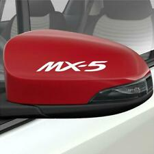 2 x MAZDA MX-5 DOOR MIRROR STICKERS DECALS GRAPHICS CHOICE OF COLOURS FAST POST
