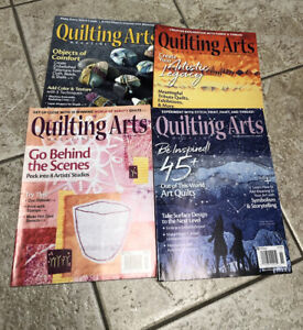 lot of 4 Quilting Arts magazine 2018-2019 Issues 91 93 95 96