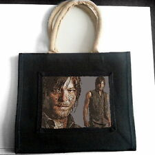 NORMAN REEDUS JUTE TOTE SHOPPING BAG PHOTO FAN POP ART GIFT