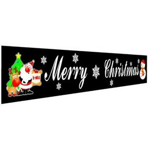 Outdoor Christmas Banner Pull Flag Decorations Celebrate Foldable Hanging Decor