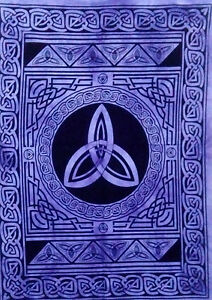 Indian Star Design Wall Hanging Small Cotton Tapestry Poster Purple Altar Art