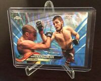 Topps Chrome Khabib Nurmagomedov Blue Wave Refractor SP /75 Lightweight Champ 🐐