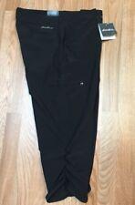 EDDIE BAUER Adventurer Stretch Black  UPF 50+  Capri Pants Size 12 NEW