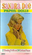 VINTAGE UNCUT 1959 SANDRA DEE PAPER DOLL ~PRETTY~SAALFIELD~ORG SIZE~REPRODUCTION