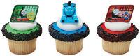 24 Thomas the Train Cupcake Rings Birthday goody bag Fillers Favors Prizes Decor