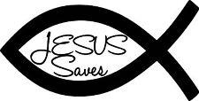 Jesus Saves vinyl decal sticker for car/truck laptop window