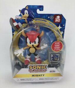 "Sonic The Hedgehog 30th Anniversary Figure + 1 UP TV 4"" Mighty Jakks Pacific NEW"