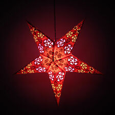 Decorative Paper Star Light Christmas Festive Party Hanging Lantern Star Lamps