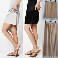 Fashion Women High Waist Intimate Half Slip Ladies Underskirt Petticoat Dress UK