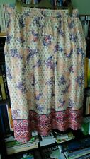 Ladies MARISOTA Maxi Skirt Plus Size 18 Cream Floral Elastic Waist Long Lined