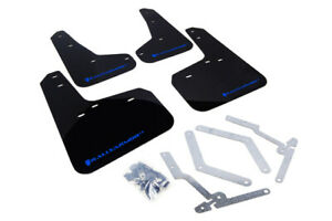 Rally Armor UR Black Mud Flap with Blue Logo For 2012-2019 Ford Focus ST