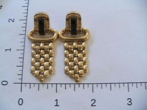 GIVENCHY Crystal Gold Dangle Link Pierced Earrings